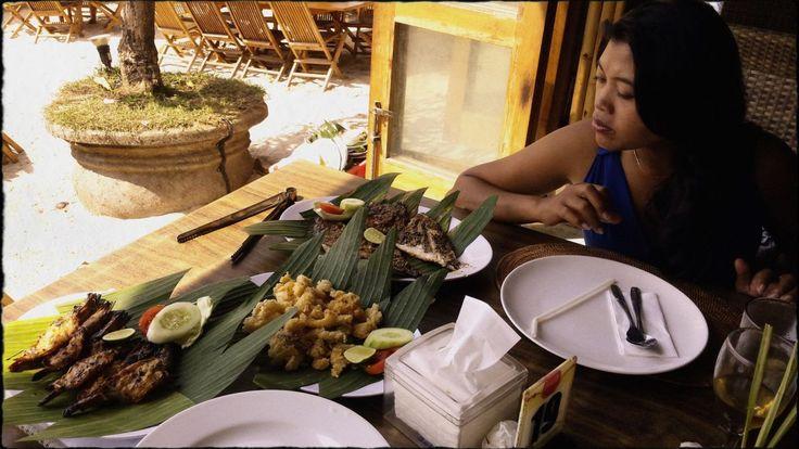 Seafood at Jimbaran Beach