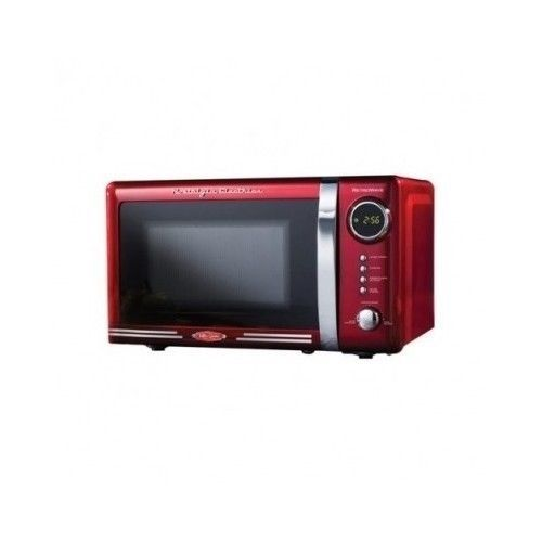 Red Microwave Oven Retro Series Kitchen Coutertop Appliciance 700 watt 0.7 Cu Ft #NostalgiaElectrics