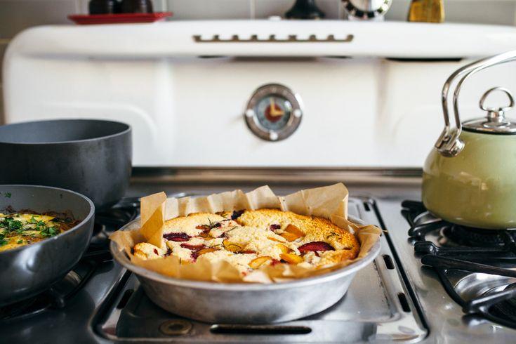 walnut feta kibbeh, a stone fruit blender cake,  — molly yeh