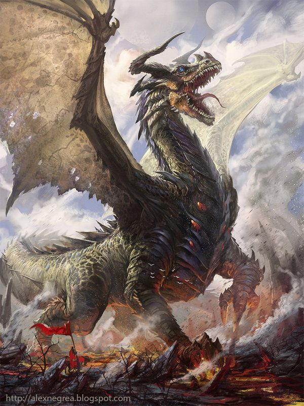 dysonrules:  Daily dragon Back to work after the holiday, so I dub this DESTRUCTION WEEK! RAWR! SMASH ALL THE THINGS! RAAAWWWWR!!! Credit: http://caiomm.deviantart.com/art/Legend-of-Cryptids-348815306