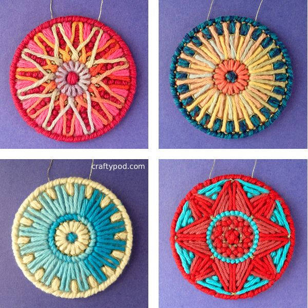 PC Ornament Tutorial by CraftyPod, via Flickr. Fun things to do with scrap yarn.