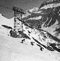 Image des Jeux Olympiques d'Albertville 1992 - Ski alpin messieurs - Val d'Isère - Affiche originale