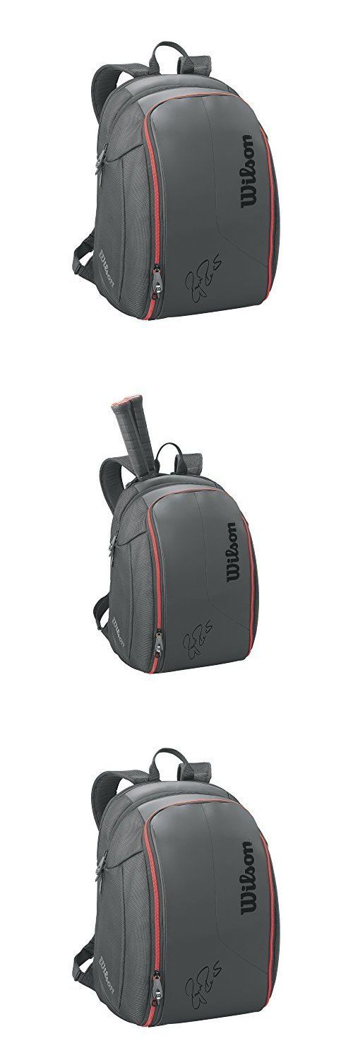 Other Racquet Sport Accs 159161: Wilson Federer Dna Racket Backpack Black, New -> BUY IT NOW ONLY: $103.35 on eBay!