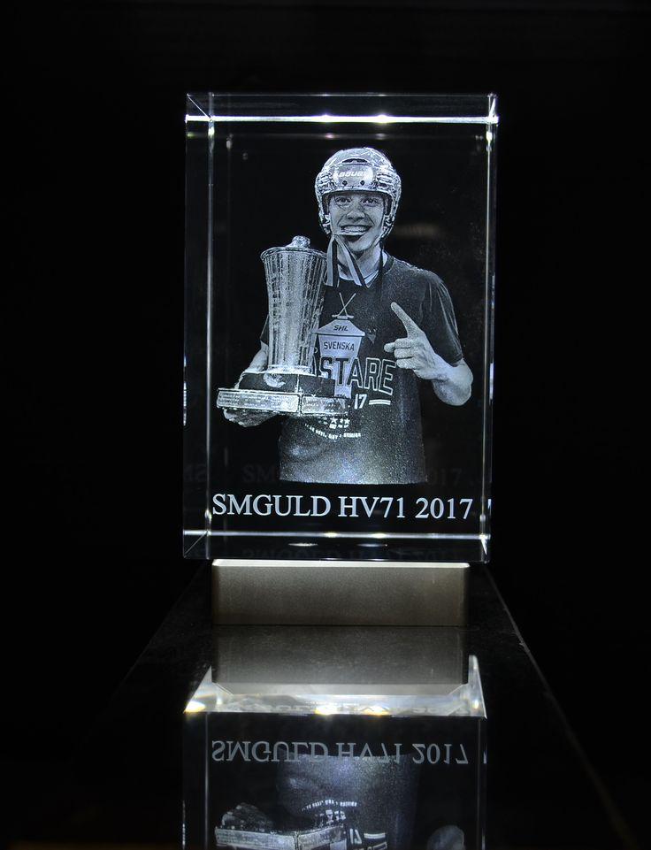3D Block av en grabbarna bakom SM guldet i Hockey - HV 71 som vi nyligen gjort och levererat. Grattis till SM Guldet!