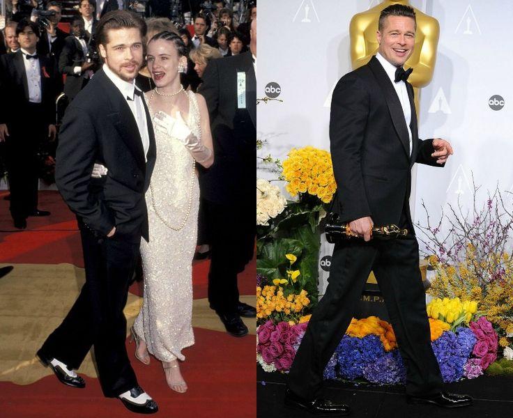 Celebrity na Oscarech tehdy a nyní - Brat Pitt