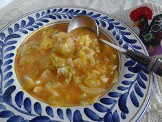 Sopa de Grao - Chickpea Cabbage Vegetable Soup