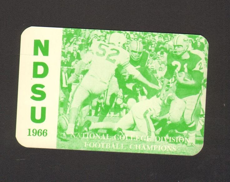 1966 Advertising Pocket Calendar Card North Dakota State Football Schedule NDSU