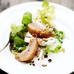 salade met pickeled pears
