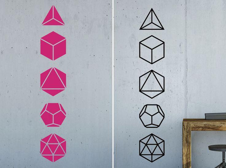 Superb Details zu Wandtattoo Aufkleber platonische K rper platonic solids heilige Geometrie Set