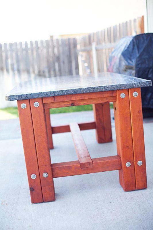 Patio Concrete Table