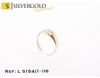 1-1-116-2-Anillo tipo solitario liso T11 L5154