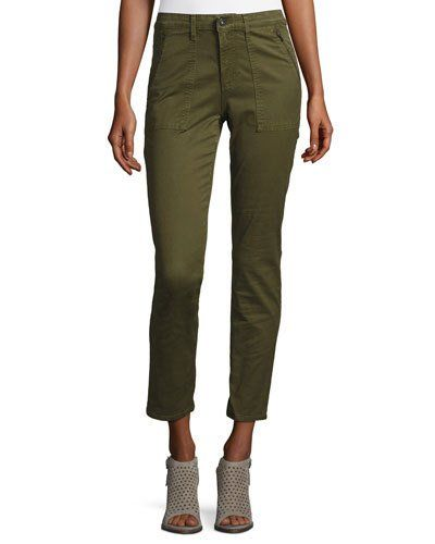 Ag+Adriano+Goldschmied+Kinsley+Sulfur+Palm+Green+Twill+Ankle+Jeans+|+Pants,+Clothing+and+Workwear