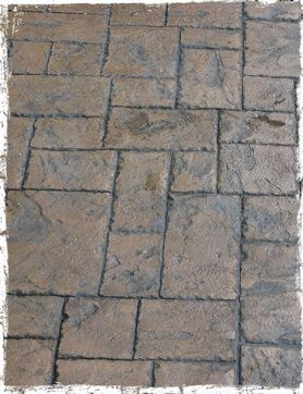 Driveways and patios made from pattern imprinted concrete