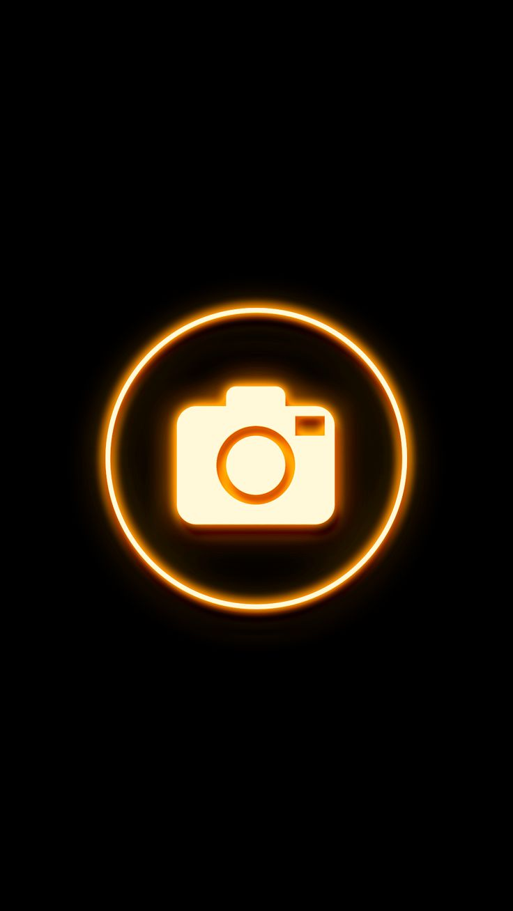 Yellow orange neon Highlight Covers Instagram Highlight ...