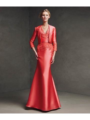 satijn kanten jurk met V-hals kant applicaties lijfje satijnen sjerp Mermaid rok