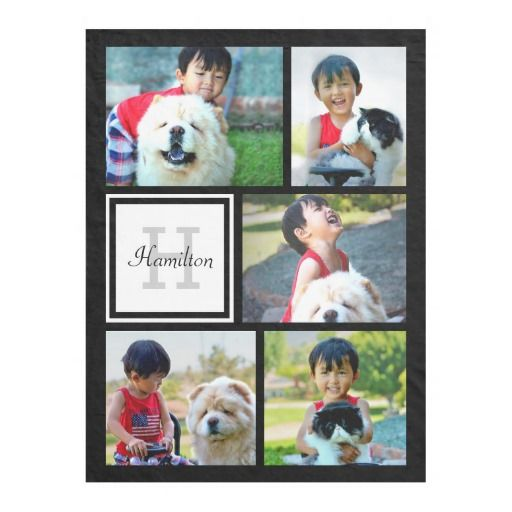 Personalized Custom Photo Collage Monogrammed Gift