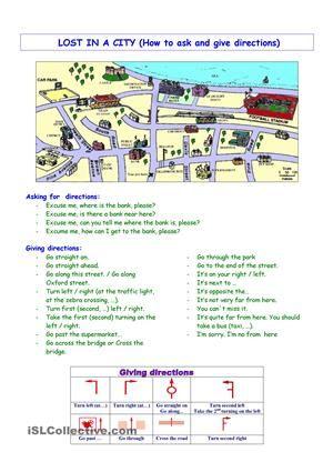 Giving directions2 worksheet - Free ESL printable worksheets made by teachers
