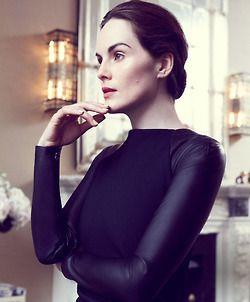 Michelle Dockery (in Ralph Lauren) photographed by Benjamin A. Huseby for Harper's Bazaar, September 2012