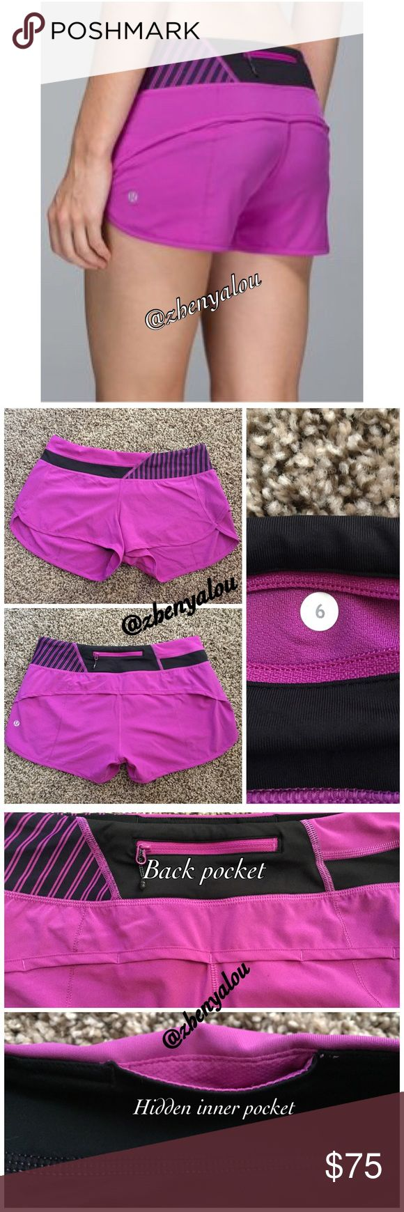 Lululemon 4 way speed shorts NWOT. Only tried on. No damage to shorts itself, but tag has some minor fraying. 4-way.   👉 Please ask all questions before purchasing! Offers/negotiations through personal email or offer button ONLY!   👉No unnecessary comments about price is needed. Negative/rude comments WILL BE BLOCKED.  🚫NO trades 🚫NO lowballing 🚫NO returns   👉 Can post on Ⓜ️ if I have a serious buyer. lululemon athletica Shorts
