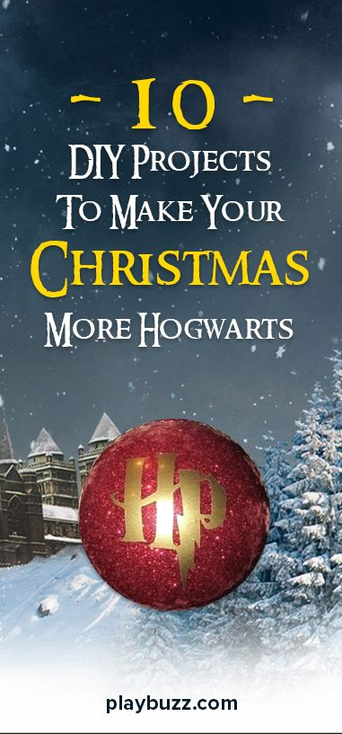Calling all DIY wizards. Potterfy your Crafty Christmas in 10 easy steps.