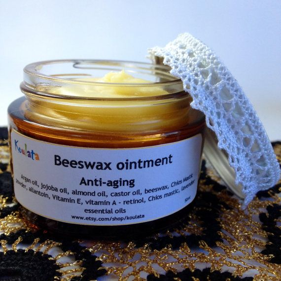 Anti-aging, anti-wrinkle, moisturizing beeswax-argan oil ointment. Daily facial care, natural product 50m