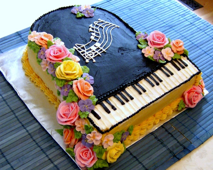 Mrs  Buttercream Cake Decorating : Buttercream Rose Piano Cake Mrs. Buttercream Cake Decorating Pinterest Discover more ideas ...