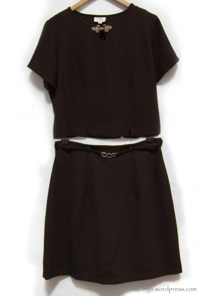 Dark Brown Skirt Suit $15