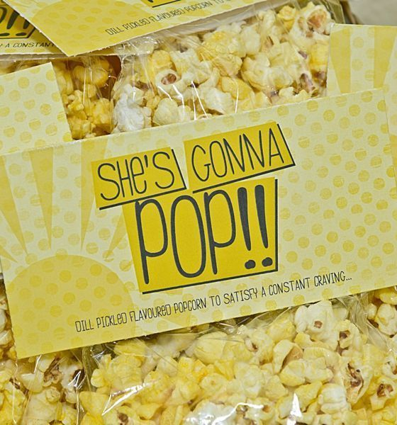 Yellow Baby Shower Inspiration | Popcorn ooh i hope someone makes these for me when im ready to pop! :)