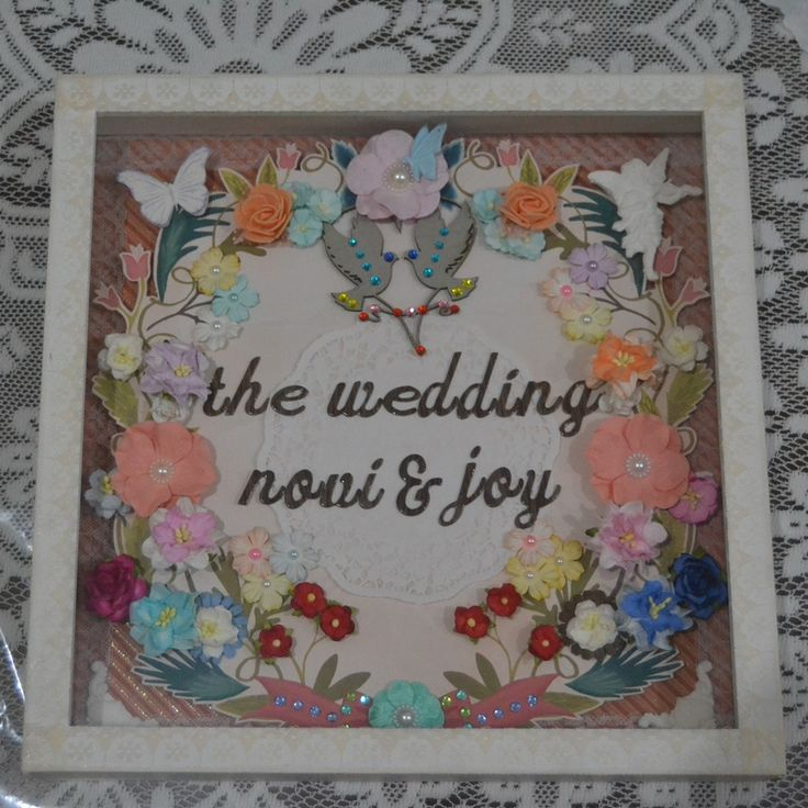 30x30cm scrapbook in frame for my cousin's wedding
