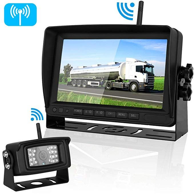 Bus Motor Home RVs Trailers TOGUARD Backup Camera Kit Van Large Vehicles Pickup 7/'/' LCD Rear View Monitor with IP67 Waterproof Night Vision Back up Rearview Reverse Cam for Trucks Harveste