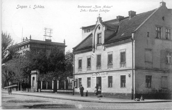"Restauracja ""zum Anker"" (Gasthof zum Anker), Żagań - 1922 rok, stare zdjęcia"