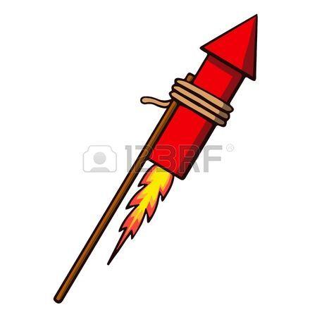 Firework rocket illustration