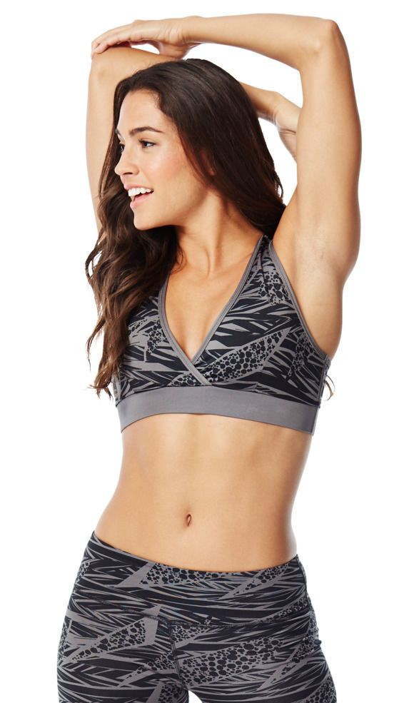 Global Z Fitness - Zumba Dance Fitness Geo Mid-Level V Bra - Grey, $21.99 (http://www.globalzfitness.com/zumba-dance-fitness-geo-mid-level-v-bra-grey/)