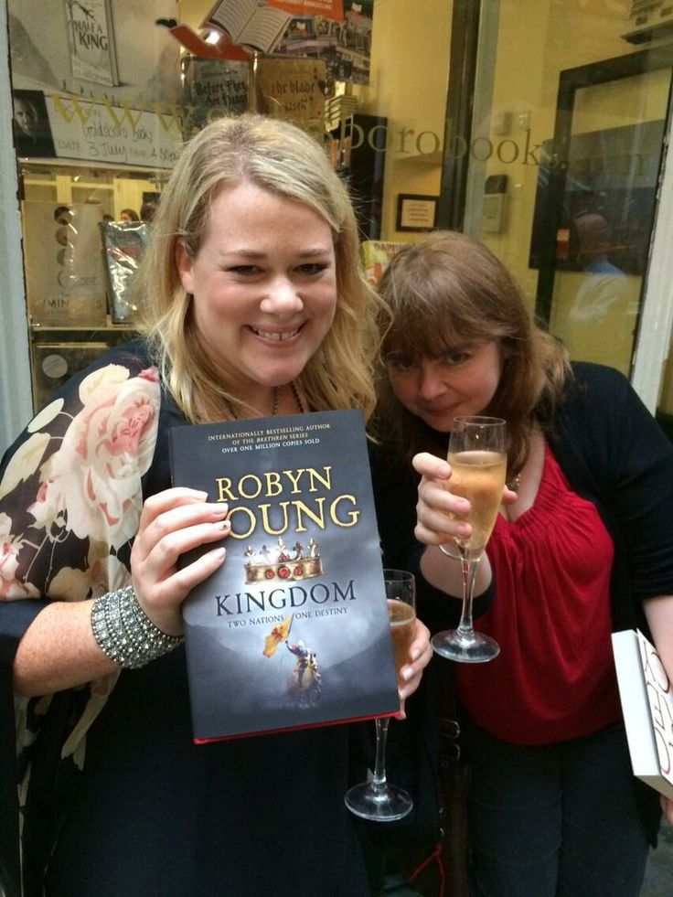 Robyn Young and Imogen Robertson. at the KINGDOM launch party.