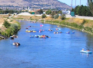 floating down the canal in penticton...