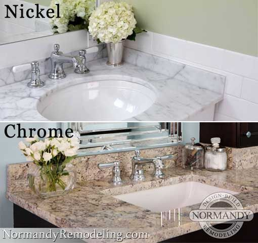 Chrome Vs Nickel Finishes Bath Design Chrome Normandy Remodeling