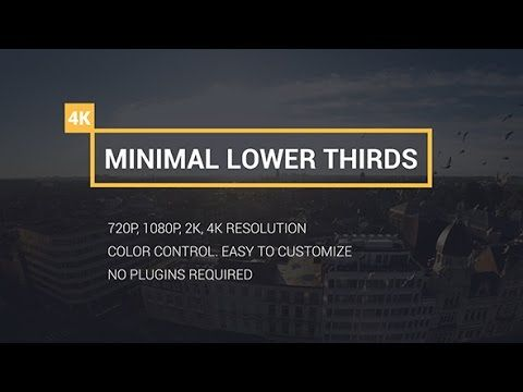 Lower Thirds   After Effects template