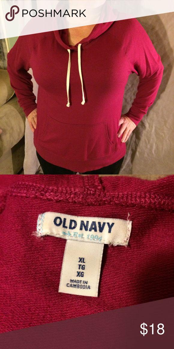 Maroon Old Navy Hoodie Light-weight maroon hoodie. Brand new! Old Navy Tops Sweatshirts & Hoodies