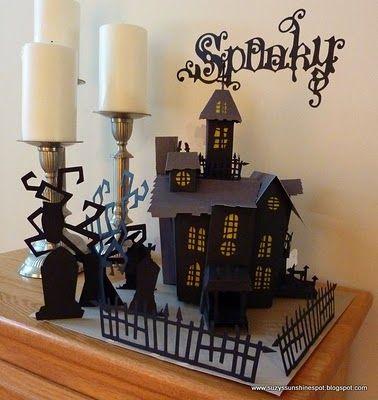 Suzy's Sunshine Spot-3D paper craft Haunted house