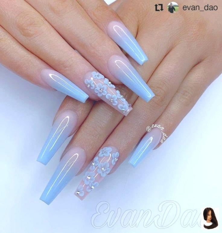 #Art #Blue #Desgins #Gorgeous #Nail Farbe matt #Nails