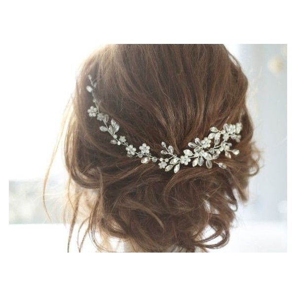 See this and similar hair accessories - Bridal Headpiece, Wedding Hair Vine, Bridal Hair Vine, Bridal Hair Accessories, Wedding Haedpiece, Ornament, Pearl and C...