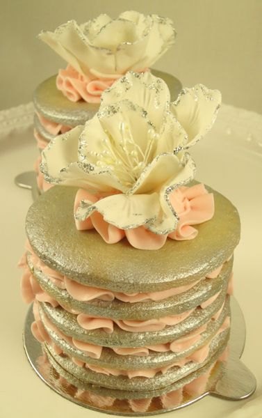 Sugar Cookie Towers for a Baptism Dessert Table