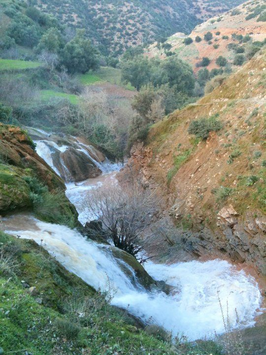 Ras El Ma waterfalls in the Atlas Mountains near Taza