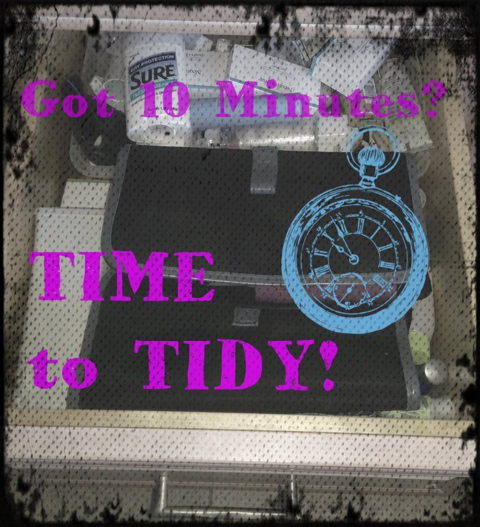TimeToTidy: Tidy That Bathroom Drawer! {armchairdecoratorblog.com}