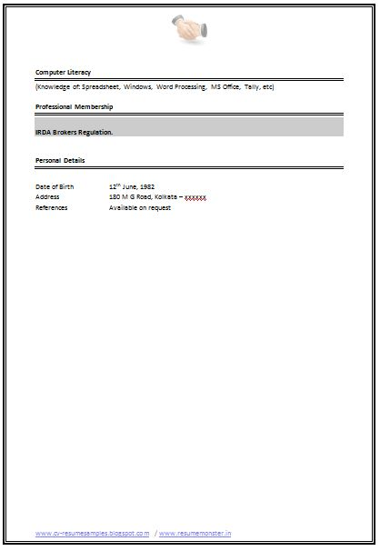 Resume Sample for Experienced (4)