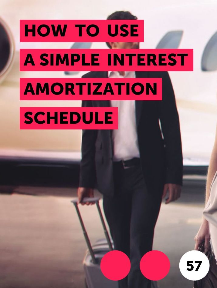 How To Use A Simple Interest Amortization Schedule In 2020 Amortization Schedule Simple Interest Refinancing Mortgage