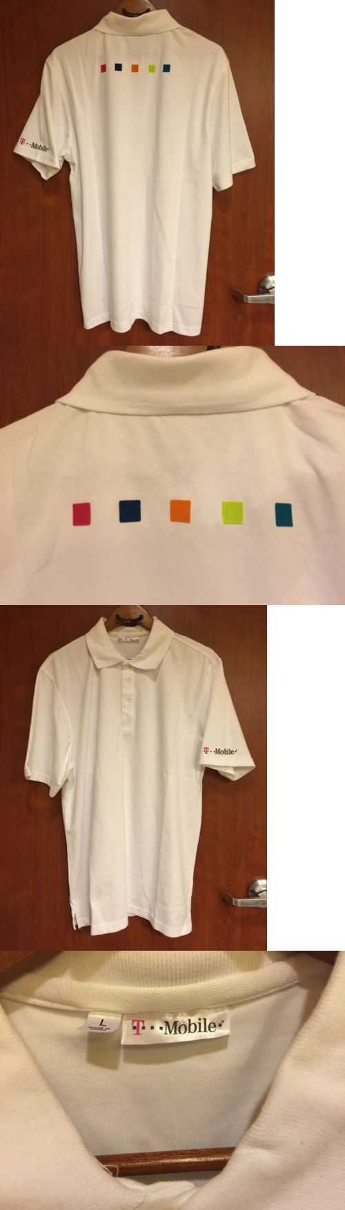Shirts 175630: ?New?T-Mobile Employee Work Uniform Store?Sz L Golf Polo T Shirt 5 Color Logo -> BUY IT NOW ONLY: $34.99 on eBay!