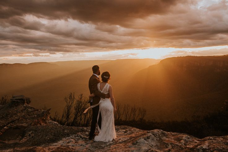 Best ever sunset at a wedding