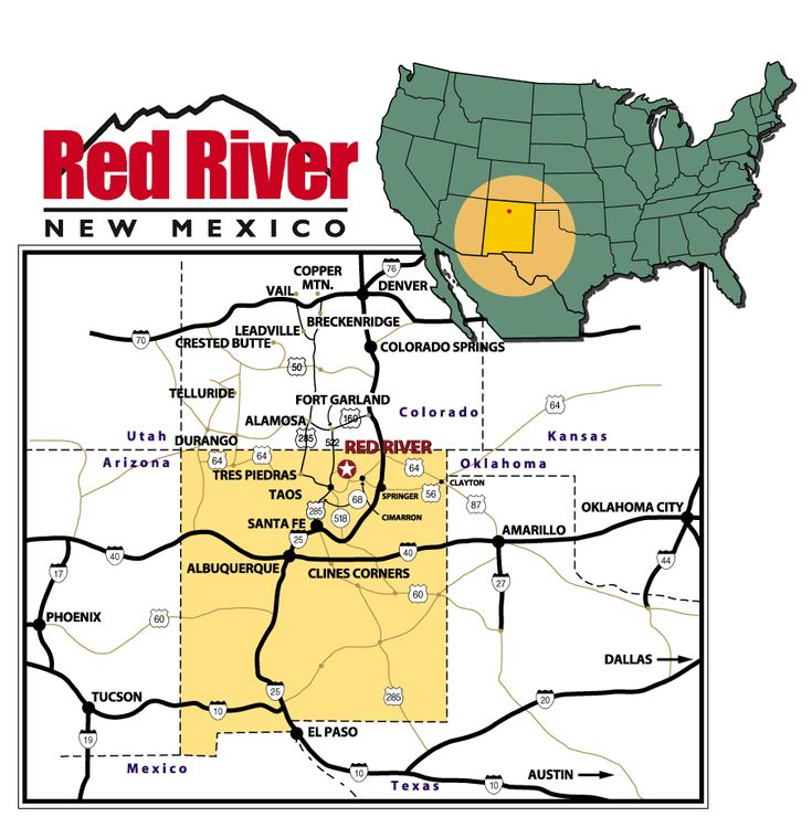 Best Red River NM Images On Pinterest Red River Mexico And - Red river map us
