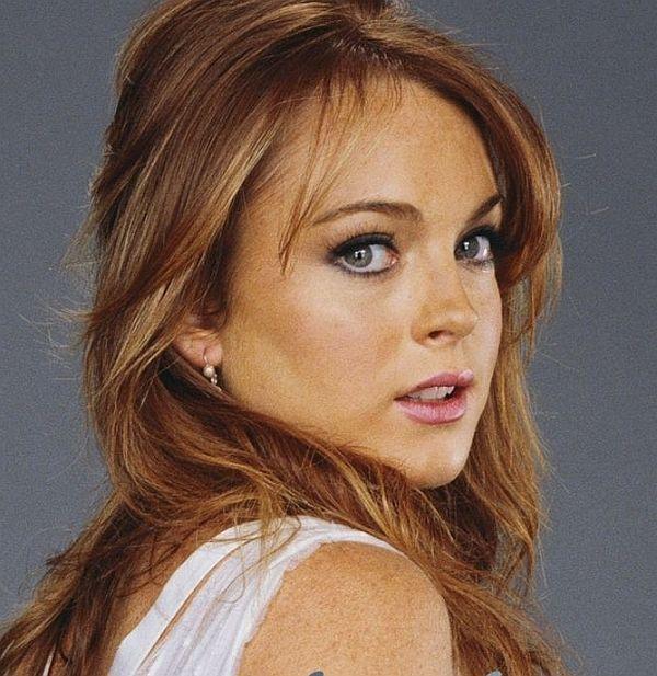Celebrity a farby - Lindsay Lohan - teplá jeseň - farba vlasov